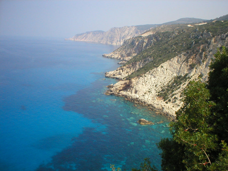 Ionian Sea view from the Monastery of Kipoureon