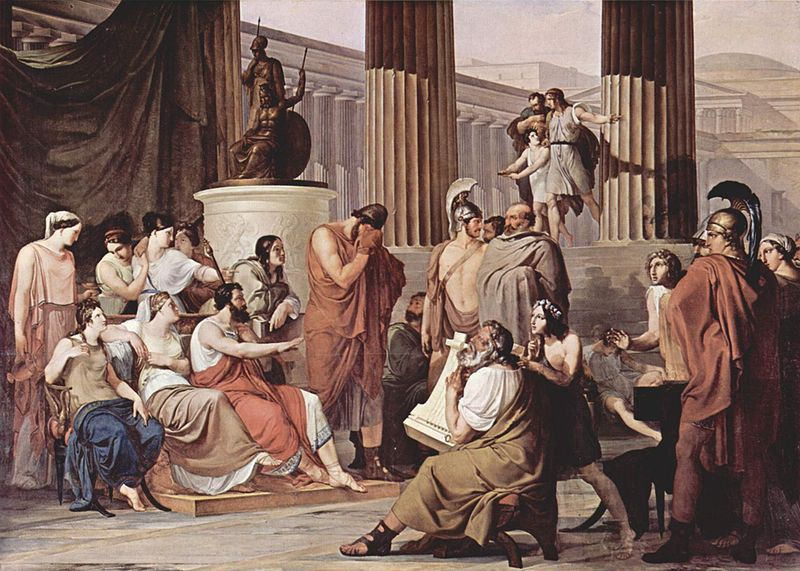 Odysseus at the court of Alcinous by Francesco Hayez (1813-1815)