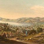 Port Vathy and capital of Ithaca by Edward Dodwell (1821)