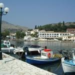 Fishing boats at Kasiopi port, Corfu