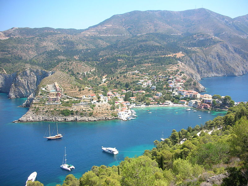 View of Assos, Kefalonia, Ionian Islands, Greece