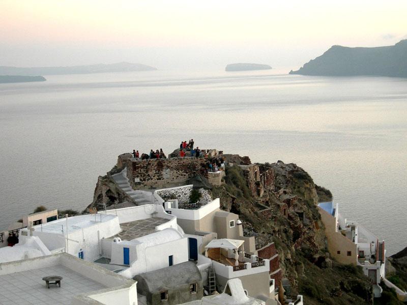 On top of the world, Santorini, Greece