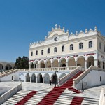 Panagia Evangelistria, landmark of Tinos island, Greece
