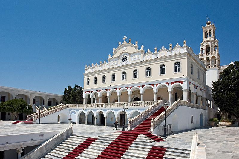 Panagia Evangelistria, landmark of Tinos island, Greece