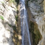 Rachi waterfalls near Nidri on Lefkada