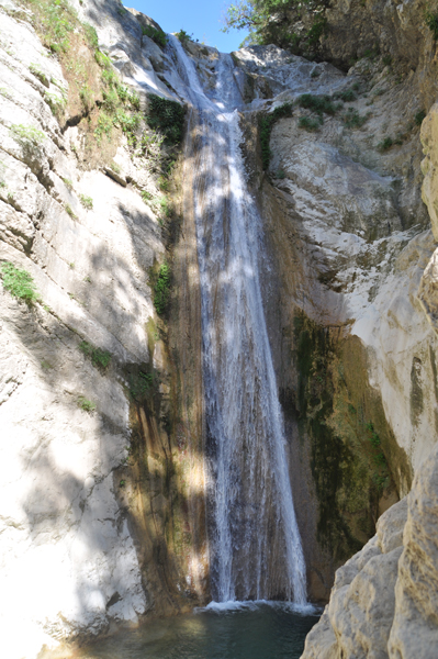 Rachi waterfalls near Nidri on Lefkada