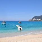 The beach of Agios Nikitas, Lefkada