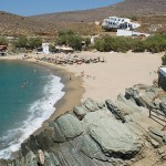 View of Kolibithra beach, Tinos, Greece