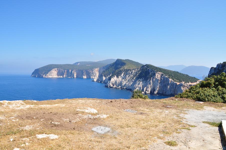 Wild coast of Lefkada and its southest part Cape Lefkatas, Doukato