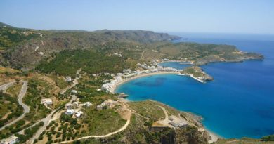 Aerial view of Kythira, Greece