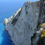 A view from a high coast at Zakynthos