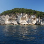 Antipaxos, Cliffs on the island