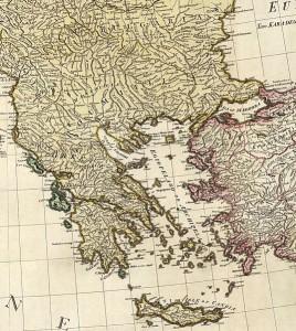 Hellas. by William Faden, 1785