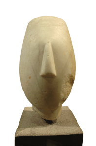 Cycladic figure from Keros island, today at Louvre, Paris