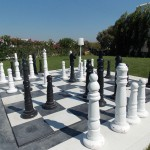 "Giant chessboard in ""Lagos Mare"" garden"