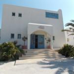 Lagos Mare, hotel entrance, Agios Prokopios, Naxos