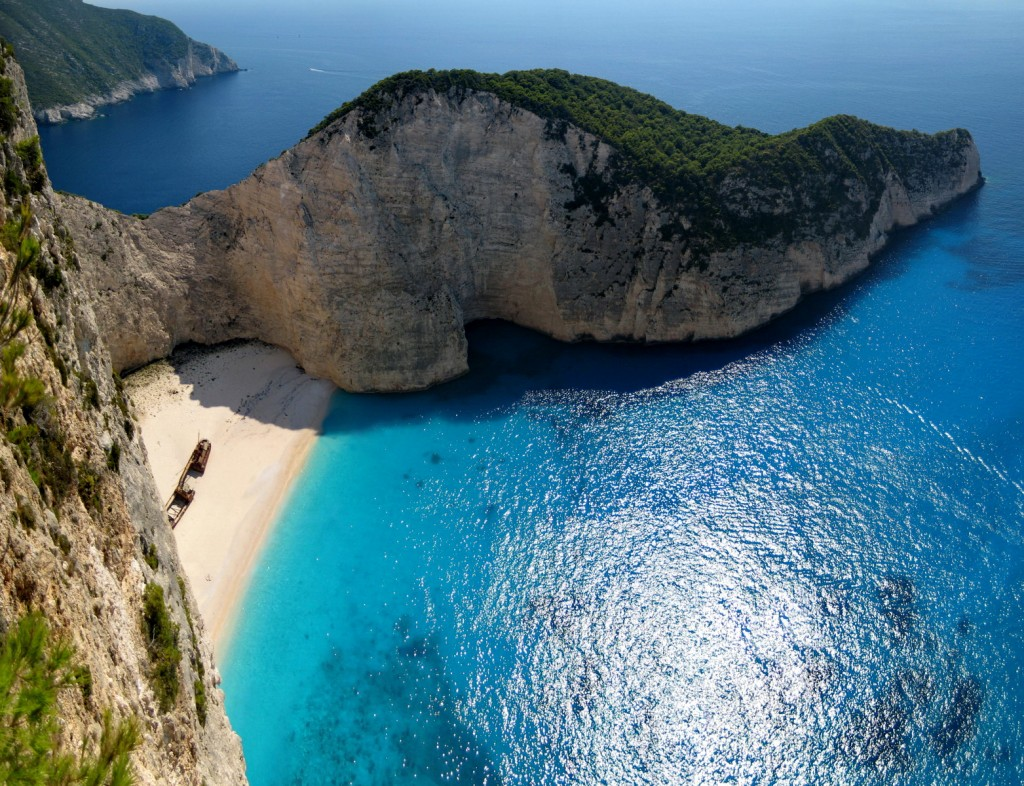 Shipwreck Beach at Zakynthos - Photo by Sotiris Lambadaridis