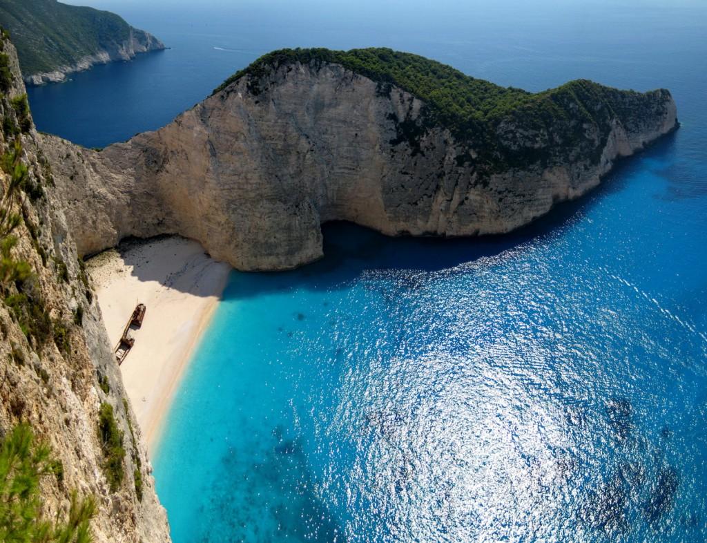 Shipwreck Beach at Zakynthos - Photo by Sotiris Lambadaridis