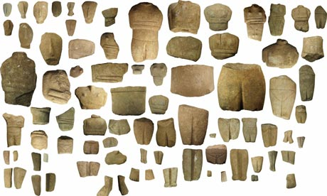 Mystery figurines from Keros, Smaller Cyclades, Greece