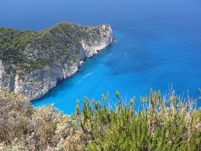 Spectacular view from Zakynthos - Photo by Jan Sundstedt, Sweden