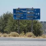 Signpost at Stauros, Naxos