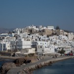 View of the old town of Naxos
