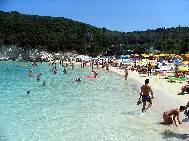 Vrika beach overview, Antipaxos