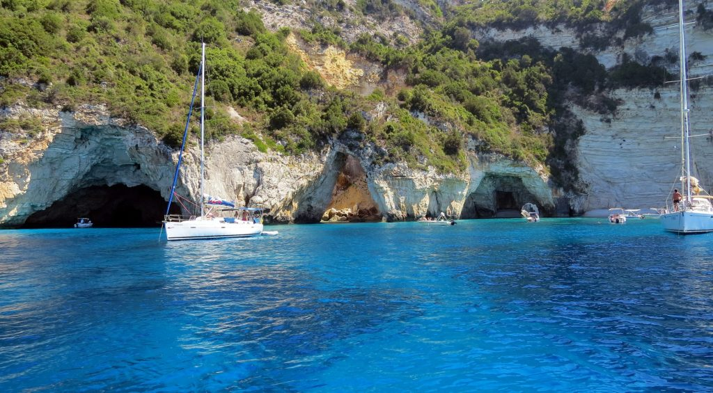 Travel to Paxos Island, Greece - Blue caves