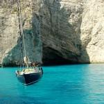 Sailing around Zante