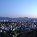 Agrinio city by evening