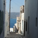 Alley in Plaka, Milos - Photo by George Korovessis