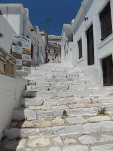 The greatest part of the village consist of steep marble steps, Apeiranthos, Naxos inland