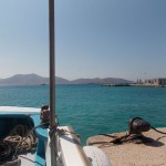 At Koufonisi port, going to Kato Koufonisi by boat