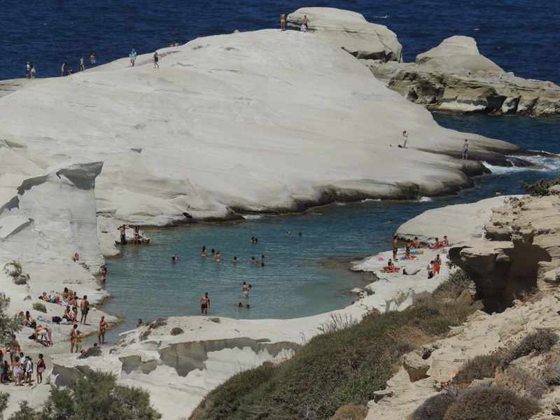 Beach of Sarakiniko, Milos - Photo by George Korovessis