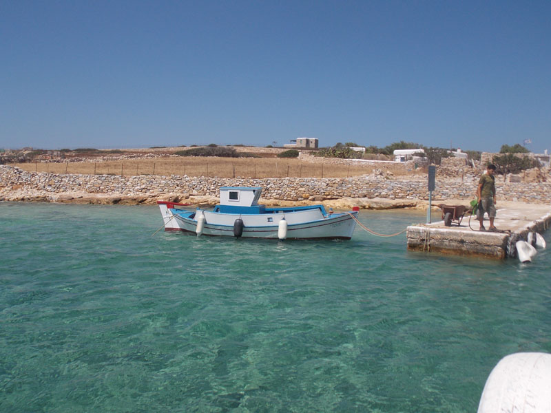 Detis - where you get off the boat at Kato Koufonisi, the only settlement on the island