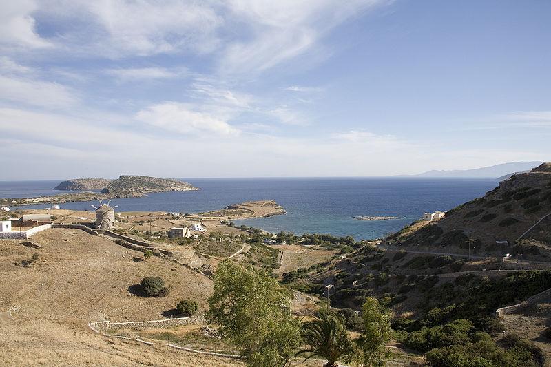 Mersini, the harbour of Schinousa, Mikres (Smaller) Cyclades