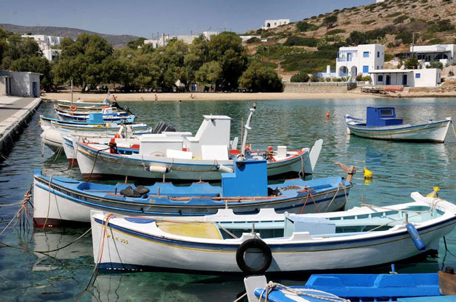 Iraklia habour, Smaller Cyclades, Greece
