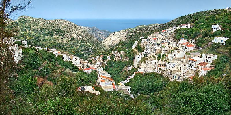 Koronos village, Naxos