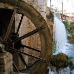 Old watermill at Herkyna river in Livadeia