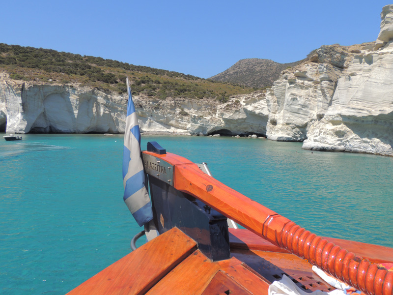Thalassitra at Kleftiko, Milos - Photo by George Korovessis