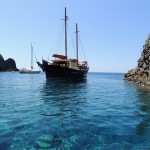 The traditional Greek boat, Thalassitra, Milos - Photo by George Korovessis