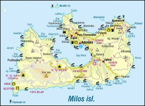 map of Milos - Click to enlarge