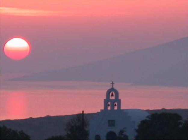 Sunset over Schinoussa island