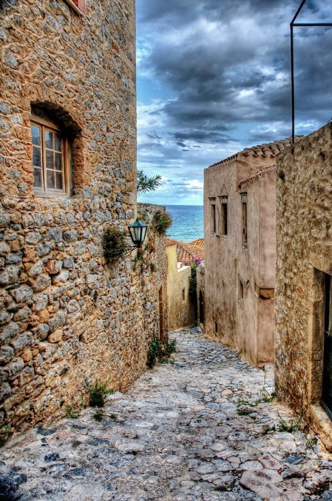 Alley in the castle of Monemvasia - S. Lambadaridis
