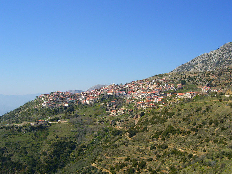 Arachova, the cosmic mountain village