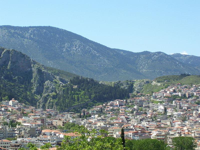 Panorama of Livadeia, Central Greece