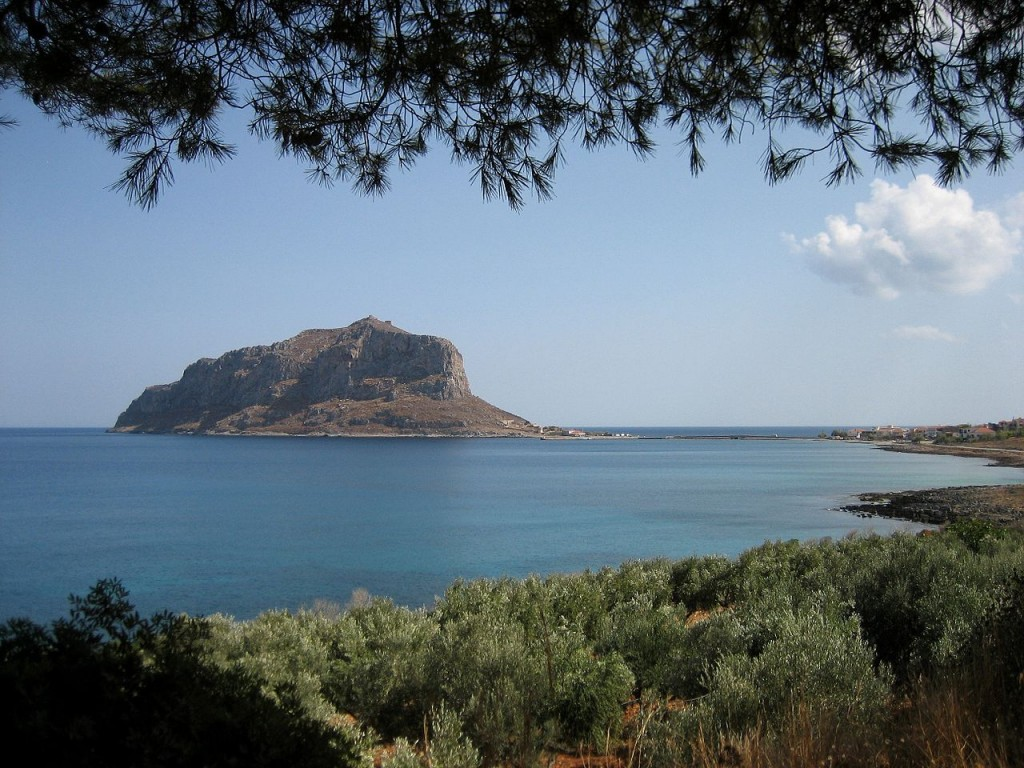 Monemvasia with the Citadel on top