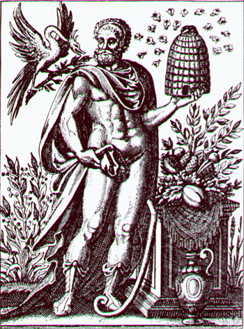 The sacred protector of Livadeia, the hero/god Trophonius