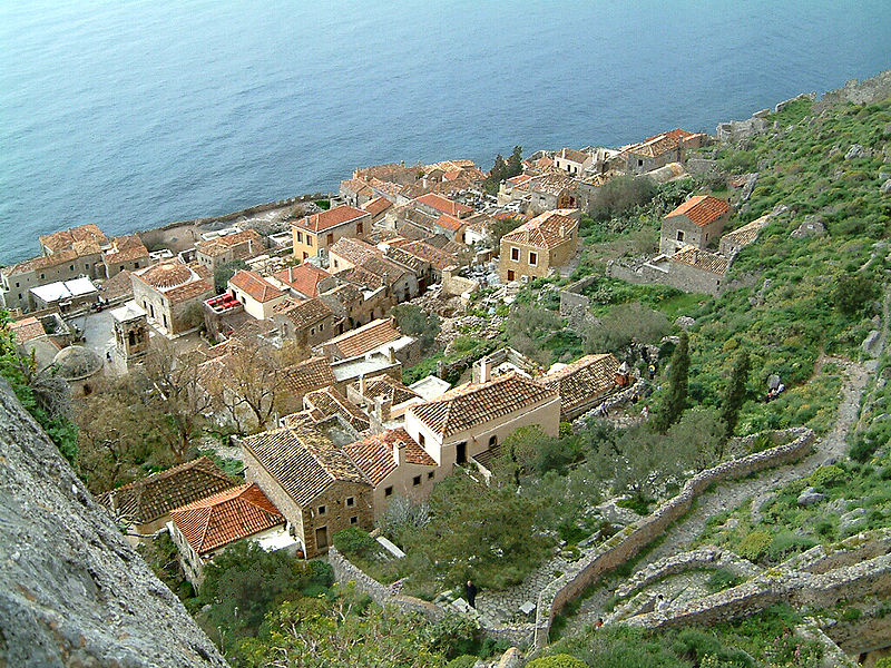 View from the citadel of Monemvasia