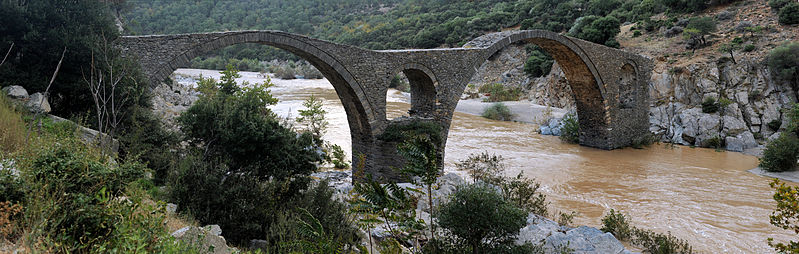 Kompsatos river bridge, Polyanthos, Rhodope, Thrace, Greece